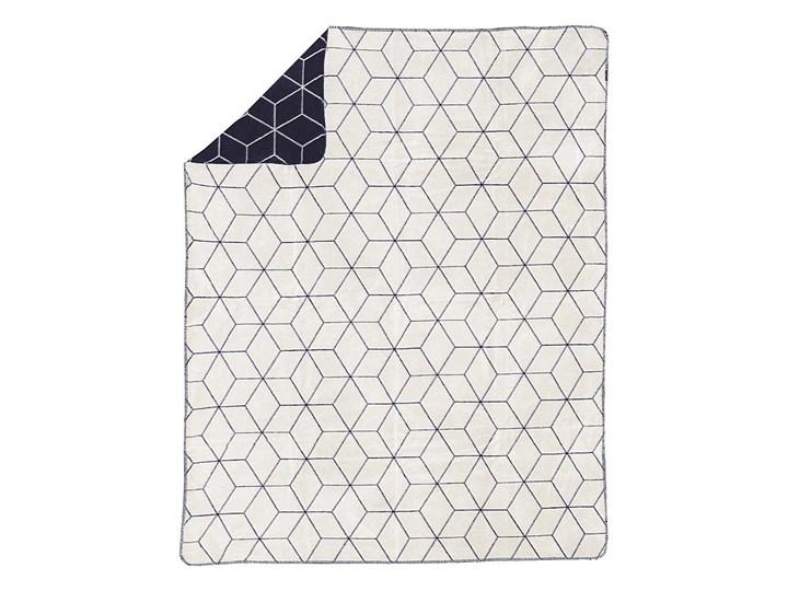 Koc Cotton Cloud 150x200cm Cosmic, 150×200cm Bawełna 150x200 cm Wzór Geometryczny Akryl Kolor Granatowy