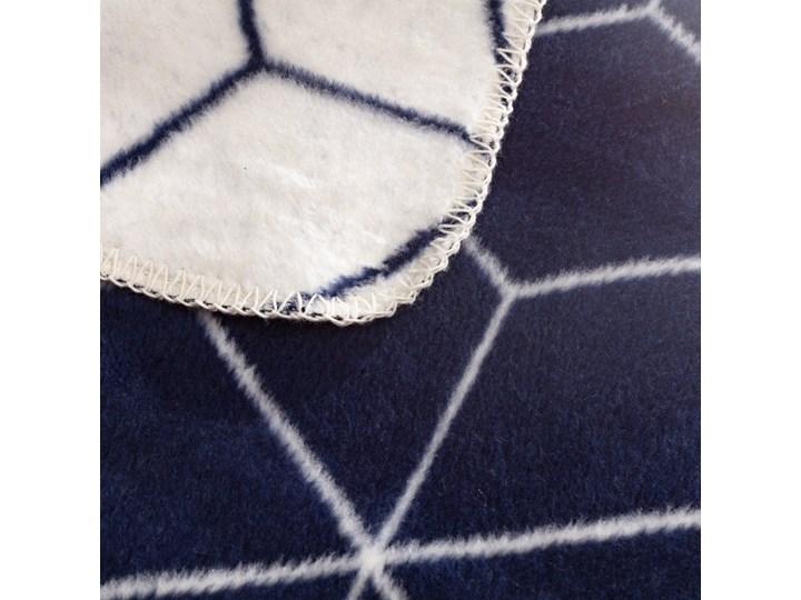 Koc Cotton Cloud 150x200cm Cosmic, 150×200cm Akryl 150x200 cm Kolor Granatowy Bawełna Wzór Geometryczny