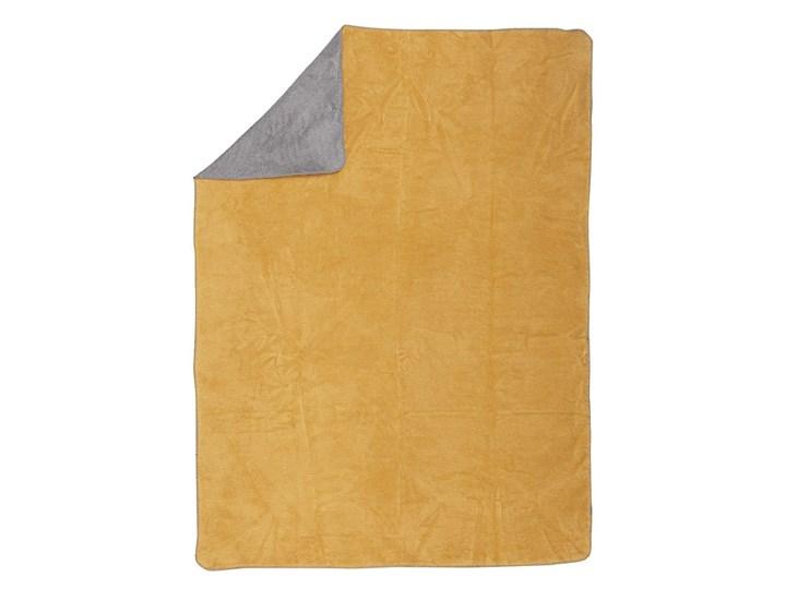Koc Cotton Cloud 150x200cm  Mustard&Grey, 150 x 200 cm Akryl 150x200 cm Wzór Jednolity Bawełna Pomieszczenie Salon