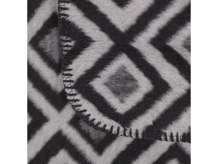 Koc Cotton Cloud 150x200cm Square, 150 x 200 cm Akryl Bawełna 150x200 cm Kolor Szary
