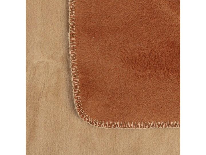 Koc Cotton Cloud 150x200cm Cognac&Beige, 150 x 200 cm Bawełna Kolor Beżowy Akryl 150x200 cm Kolor Brązowy