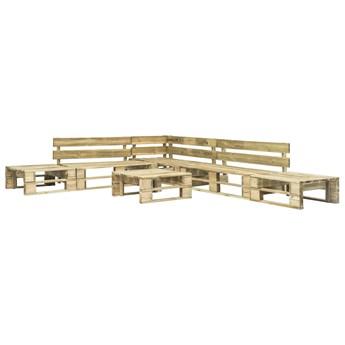 vidaXL 6-cz. zestaw wypoczynkowy do ogrodu, palety, drewno