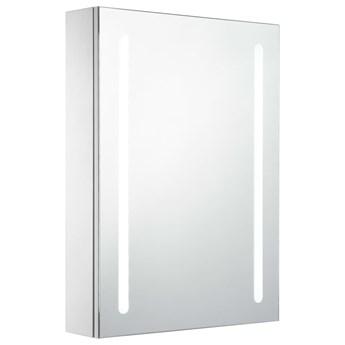 vidaXL Szafka łazienkowa z lustrem i LED, 50 x 13 x 70 cm