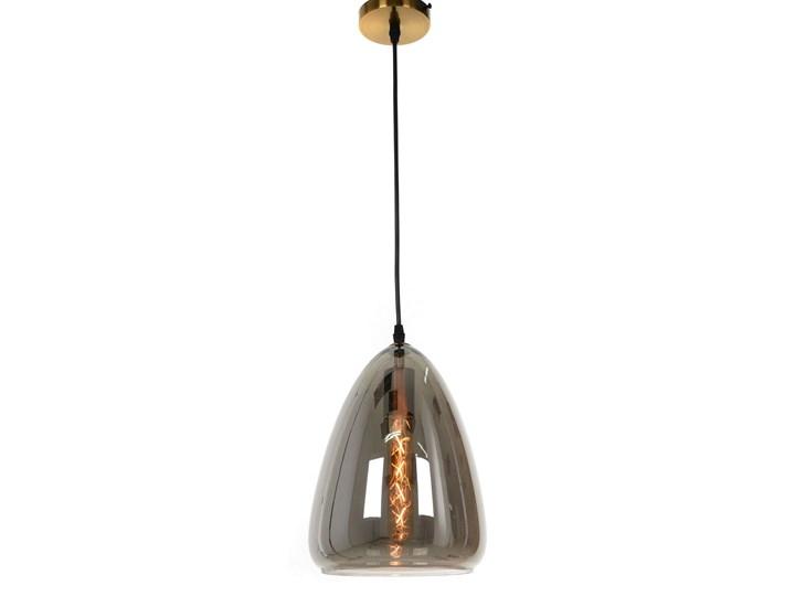 NOWOCZESNA LAMPA WISZĄCA LOFT DYMIONA BRAGA Szkło Metal Mosiądz Lampa z abażurem Lampa z kloszem Kategoria Lampy wiszące