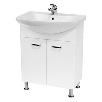 Szafka z umywalką Cersanit Diuna 65 cm biała