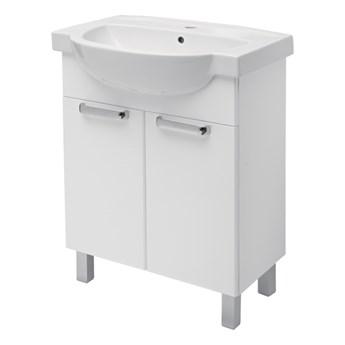 Szafka z umywalką Koło Freja 65 cm biała