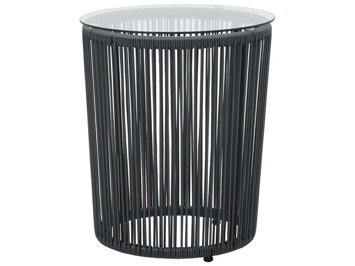 vidaXL 3-cz. zestaw mebli bistro z poduszkami, rattan PVC, antracyt Stoły z krzesłami Liczba miejsc Dwuosobowy Stal Zawartość zestawu Stolik