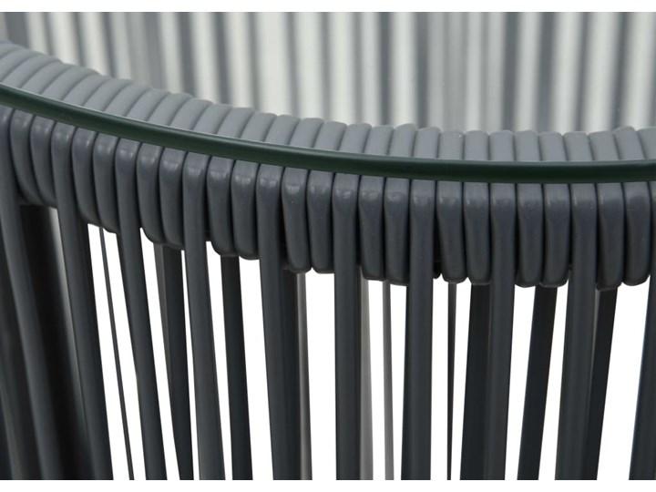 vidaXL 3-cz. zestaw mebli bistro z poduszkami, rattan PVC, antracyt Stal Kategoria Zestawy mebli ogrodowych Stoły z krzesłami Zawartość zestawu Stolik