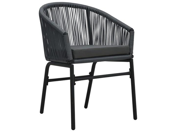 vidaXL 3-cz. zestaw mebli bistro z poduszkami, rattan PVC, antracyt Liczba miejsc Dwuosobowy Stoły z krzesłami Stal Zawartość zestawu Krzesła