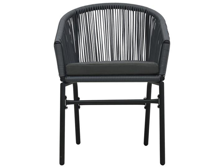 vidaXL 3-cz. zestaw mebli bistro z poduszkami, rattan PVC, antracyt Stoły z krzesłami Kategoria Zestawy mebli ogrodowych Stal Zawartość zestawu Krzesła
