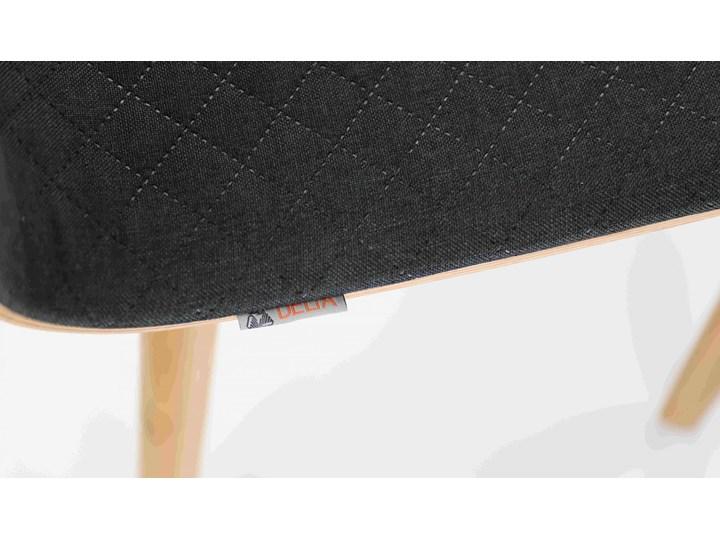 LUKA SOFT W krzesło dębowe, pikowana grafitowa tkanina Pikowane Wysokość 48 cm Styl Nowoczesny Szerokość 40 cm Głębokość 41 cm Głębokość 40 cm Drewno Płyta MDF Wysokość 87 cm Tapicerowane Pomieszczenie Salon