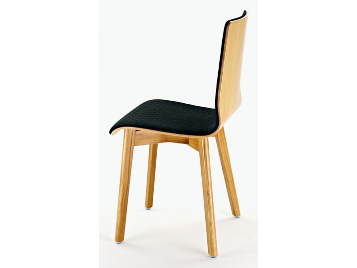LUKA SOFT W krzesło dębowe, pikowana grafitowa tkanina Szerokość 40 cm Wysokość 87 cm Pikowane Płyta MDF Tapicerowane Głębokość 41 cm Głębokość 40 cm Drewno Wysokość 48 cm Pomieszczenie Jadalnia
