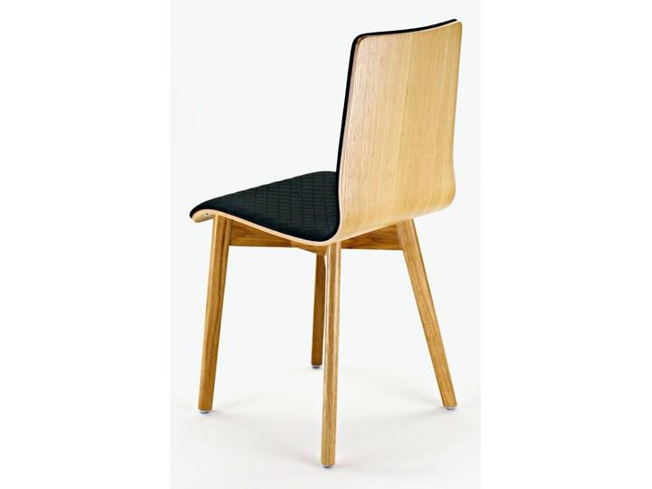 LUKA SOFT W krzesło dębowe, pikowana grafitowa tkanina Wysokość 48 cm Głębokość 40 cm Drewno Tapicerowane Wysokość 87 cm Głębokość 41 cm Płyta MDF Pikowane Szerokość 40 cm Styl Nowoczesny