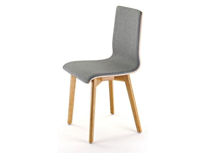 LUKA SOFT W krzesło dębowe, tkanina Lt.grey