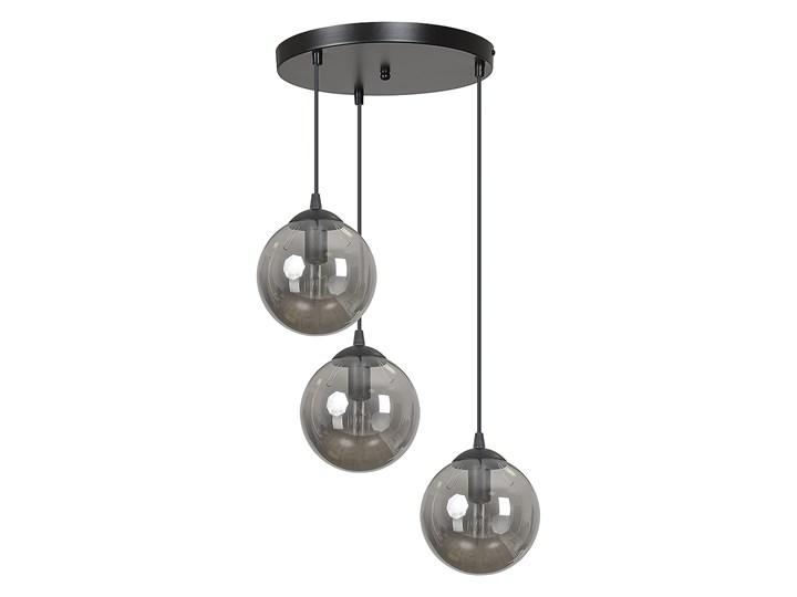 COSMO 3 BL GRAFIT PREMIUM lampa wisząca klosze kule regulowana nowoczesna Szkło Lampa z kloszem Metal Styl Klasyczny Lampa LED Kolor Czarny