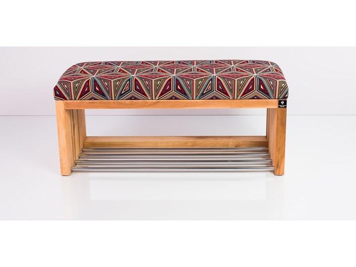 Ławka Szafka Pufa Tapicerowana Siedzisko Gładkie Malawi LGS-23 Rozmiary od 50 cm do 200 cm Pikowana Materiał nóżek Drewno