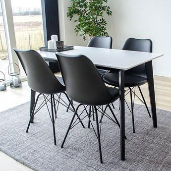 SELSEY Stół Bignus 120x70 cm na czarnej podstawie