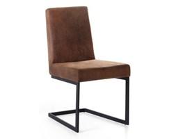 Krzesło brązowe tapicerowane ARCTIC