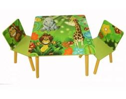 Komplet mebli dla dzieci, stolik i dwa krzesełka z motywem dżungli