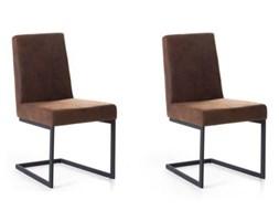 Zestaw do jadalni 2 krzesła brązowo-czarne ARCTIC