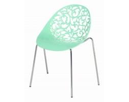 Zestaw do jadalni 4 krzesła zielone MUMFORD