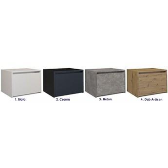 Minimalistyczna szafka nocna Reja - biała