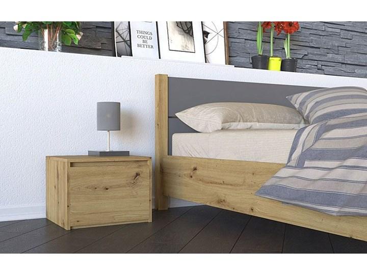 Loftowa szafka nocna Reja - dąb artisan Drewno Kolor Brązowy