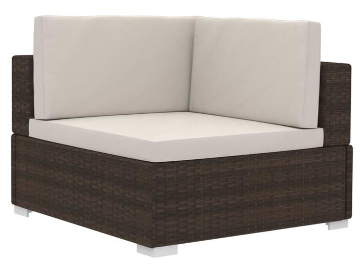 vidaXL 4-częściowa sofa do ogrodu, z poduszkami, polirattan, brązowa Stal Tworzywo sztuczne Zestawy wypoczynkowe Technorattan Zestawy modułowe Kategoria Zestawy mebli ogrodowych
