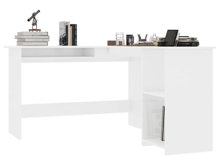 vidaXL Biurko narożne, wysoki połysk, białe, 120x140x75 cm Głębokość 120 cm Kolor Biały Szerokość 120 cm Płyta MDF Pomieszczenie Biuro