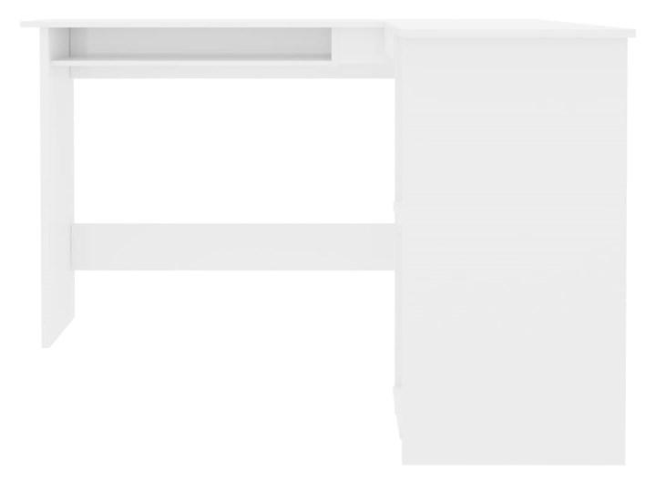 vidaXL Biurko narożne, wysoki połysk, białe, 120x140x75 cm Płyta MDF Głębokość 120 cm Szerokość 120 cm Styl Nowoczesny