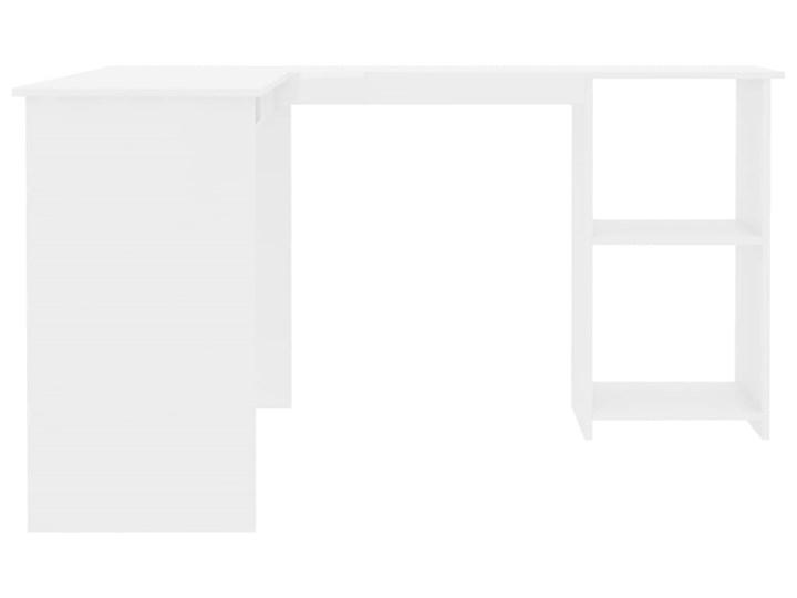 vidaXL Biurko narożne, wysoki połysk, białe, 120x140x75 cm Głębokość 120 cm Szerokość 120 cm Płyta MDF Pomieszczenie Biuro