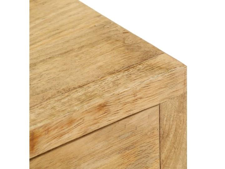 vidaXL Szafka nocna, 40 x 35 x 50 cm, lite drewno mango Kolor Beżowy Ilość szuflad 2-szuflady