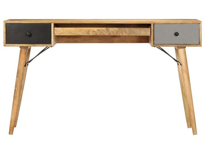 vidaXL Biurko z szufladami, 130 x 50 x 80 cm, lite drewno mango Kategoria Biurka
