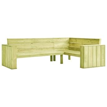 vidaXL Ogrodowa ławka narożna, 239 cm, impregnowane drewno sosnowe