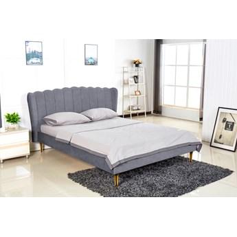 Łóżko sypialniane z wezgłowiem w stylu glamour Valverde