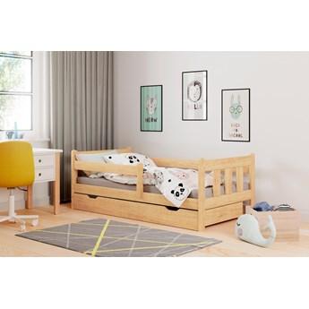 Sosnowe łóżko dziecięce z szufladą Marinella