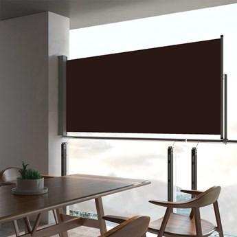vidaXL Wysuwana markiza boczna na taras, 60 x 300 cm, brązowa