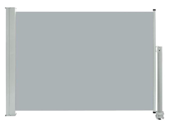 vidaXL Wysuwana markiza boczna na taras, 80 x 300 cm, szara Wymiary 80x300 cm