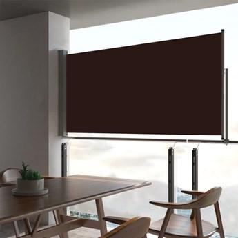 vidaXL Wysuwana markiza boczna na taras, 80 x 300 cm, brązowa