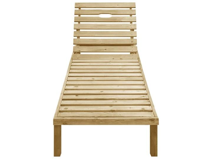 vidaXL Leżak, impregnowane drewno sosnowe Z regulowanym oparciem Kategoria Leżaki ogrodowe Styl Rustykalny