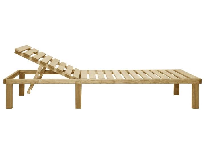 vidaXL Leżak, impregnowane drewno sosnowe Z regulowanym oparciem Kategoria Leżaki ogrodowe