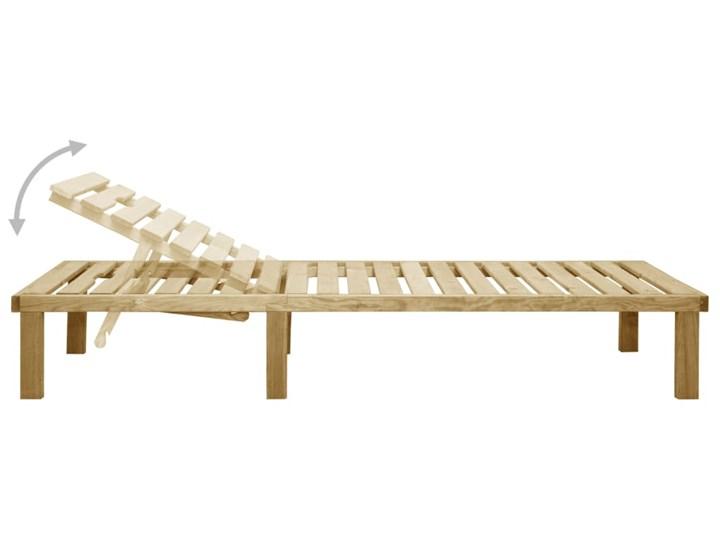vidaXL Leżak, impregnowane drewno sosnowe Z regulowanym oparciem Styl Rustykalny Kategoria Leżaki ogrodowe