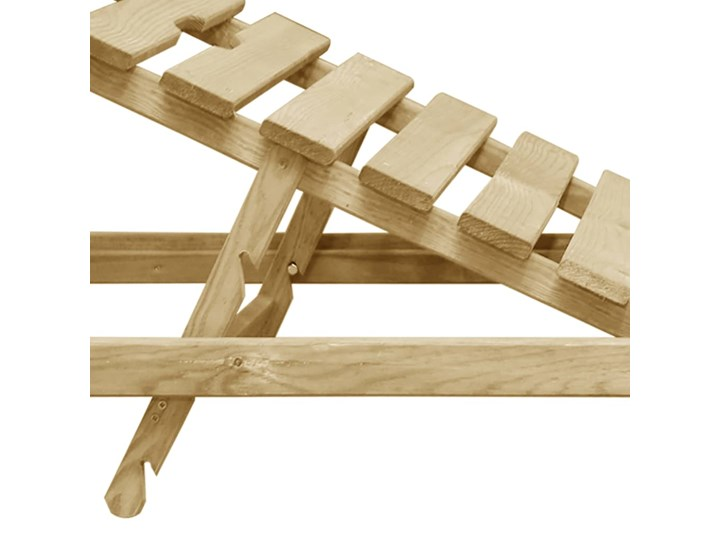 vidaXL Leżak, impregnowane drewno sosnowe Z regulowanym oparciem Styl Rustykalny