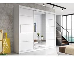 Szafa ALBA (kolory) 250 cm brak Biały/Lustro Biały