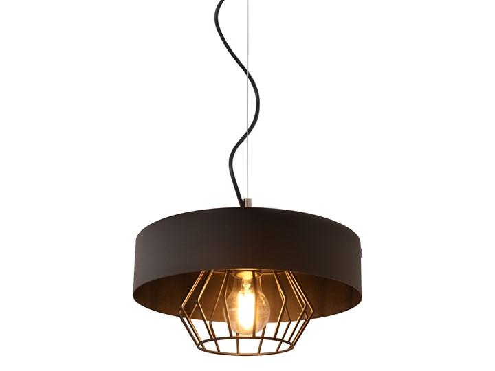 Lampa loft industrial BABILON W-KML 151300/1 BK+BK Metal Lampa druciana Lampa z kloszem Kolor Czarny