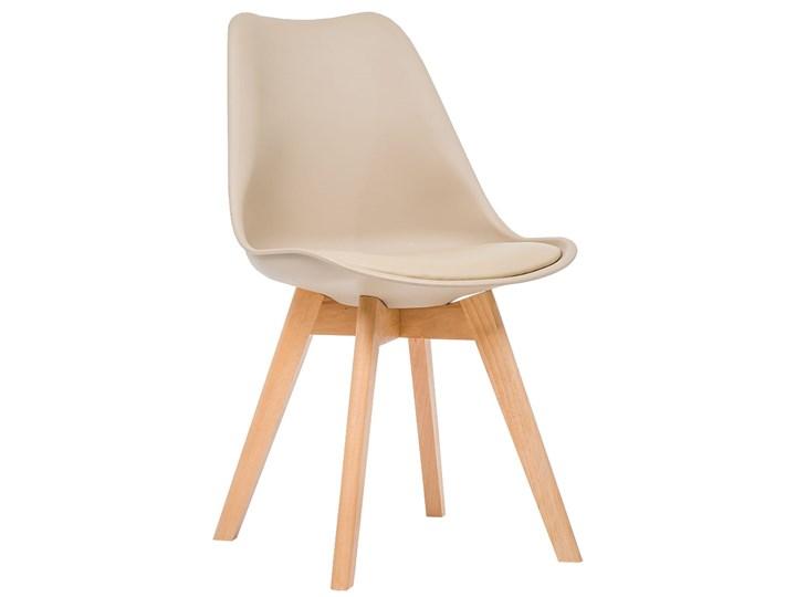 NOWOCZESNE KRZESŁO 53E-7 BEŻ Wysokość 84 cm Tworzywo sztuczne Drewno Kategoria Krzesła kuchenne