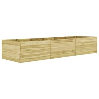 vidaXL Podwyższona donica ogrodowa, 450x100x54 cm, impregnowana sosna