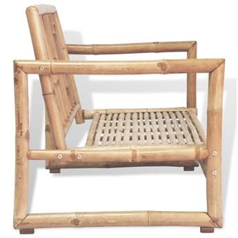 Bambusowa sofa ogrodowa Belta - brązowa