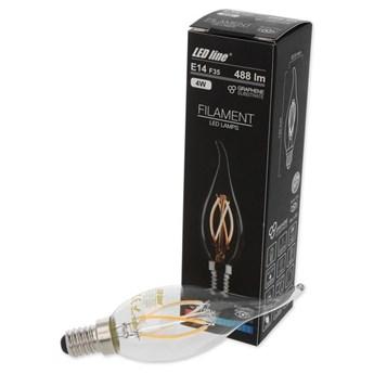 Żarówka LED line FILAMENT E14 F35 180-265V 4W 488lm 2700K biała ciepła