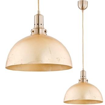 Lampa wisząca nad blat Sharon złota  śr. 30cm